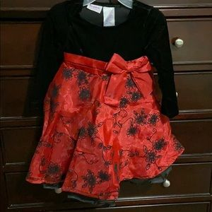 Toddler Girls Christmas Dress. EUC